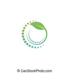 health care nature logo design vector illustration icon element