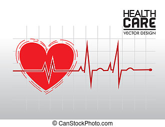 health care over grid background vector illustration