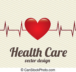 health care over lineal background vector illustration