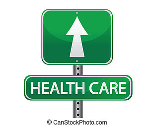 Health care sign isolated over a white background design