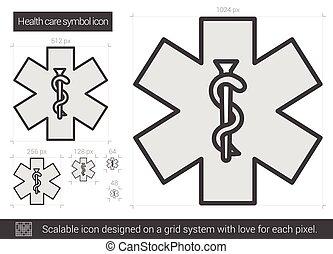 Health care symbol line icon.
