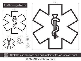Health care symbol line icon.