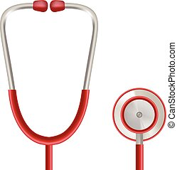 Health Care Vector Concept With Stethoscope Isolated On A White Background. Realistic Vector Illustration.
