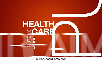 Health Care Word Cloud Animation
