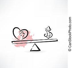 Health cash balance icon