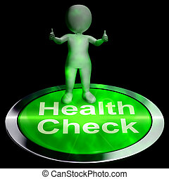Health Check Button Shows Medical Condition 3d Rendering