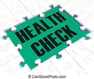 Health check concept icon means having a medical check up or physical - 3d illustration