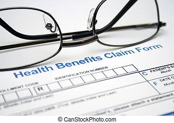 Health claim form