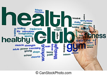 Health club word cloud