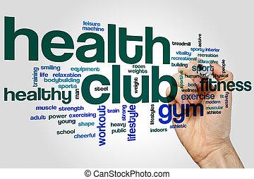 Health club word cloud