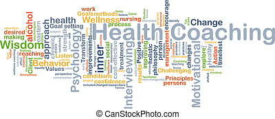 Health coaching background concept - Background concept...