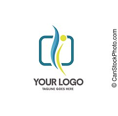 health coaching logo vector, fitness and health logo concept...
