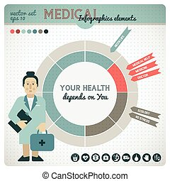 Health Colored Infographic