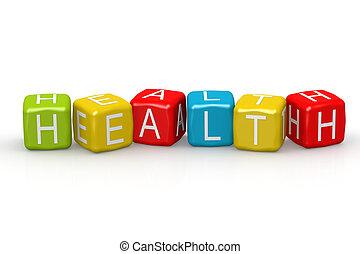 Health colorful buzzword
