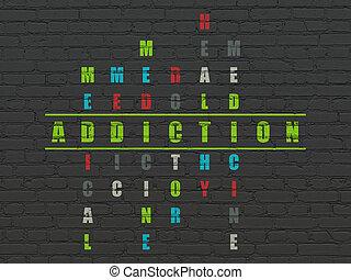 Health concept: Addiction in Crossword Puzzle