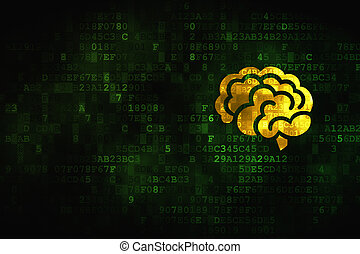 Health concept: Brain on digital background