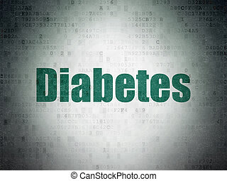 Health concept: Diabetes on Digital Data Paper background