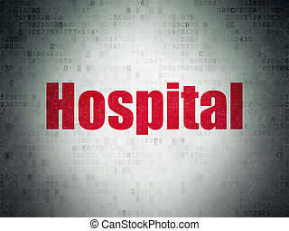 Health concept: Hospital on Digital Paper background