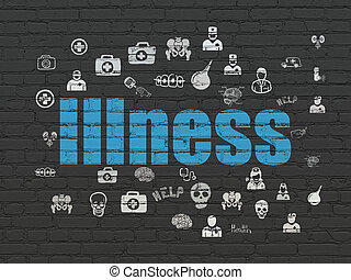 Health concept: Illness on wall background