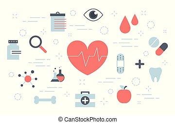 Health concept illustration - Health concept. Idea of...
