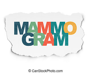 Health concept: Mammogram on Torn Paper background - Health...