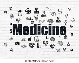 Health concept: Medicine on wall background