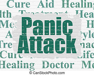 Health concept: Panic Attack on wall background