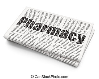 Health concept: Pharmacy on Newspaper background
