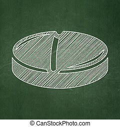 Health concept: Pill on chalkboard background