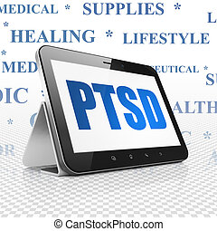 Health concept: Tablet Computer with PTSD on display