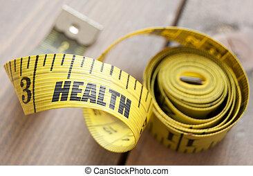 Health concept tape measure