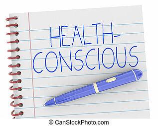 Health Conscious Notebook Pen 3d Illustration