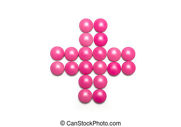 Health Cross made of purple pink Pills