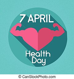 Health Day Heart Shape Strong Hands Muscles Holiday Icon