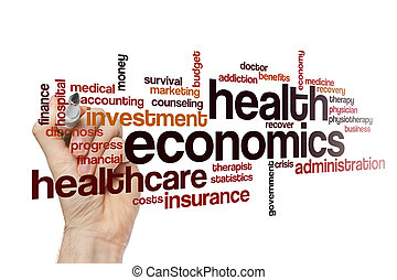 Health economics word cloud concept