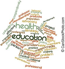 Health education - Abstract word cloud for Health education...