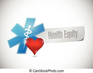 health equity paper banner illustration design over a white ...