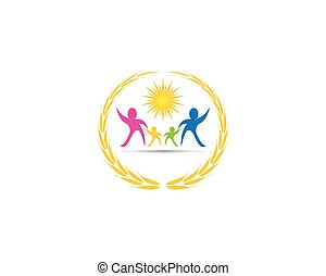 Health family care logo vector