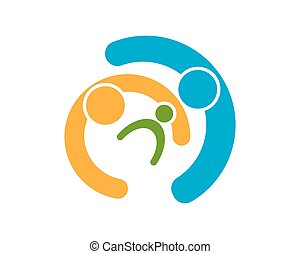 Health family care logo vector template