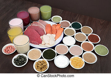 Health Food and Drinks for Body Builders