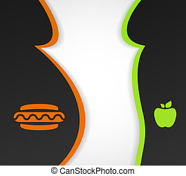 Health food - Conceptual background on the theme of obesity...