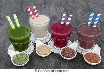Health Food Drink Selection
