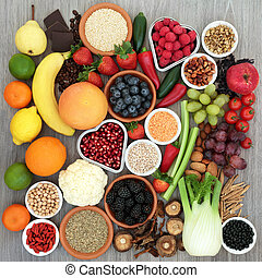 Health Food for Dieting - Diet health food concept with...