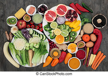 Health Food for Fitness - Health food for fitness concept...