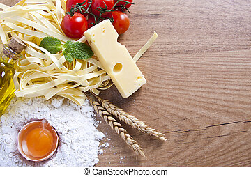 fresh pasta with natural foods balanced diet