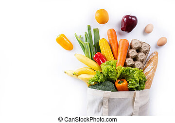 health food  fruit and vegetable in Supermarket Grocery shopping concept