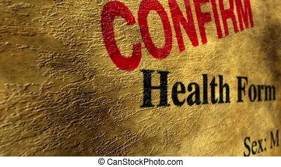 Health form confirm