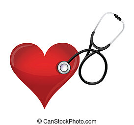 health heart concept with a Stethoscope