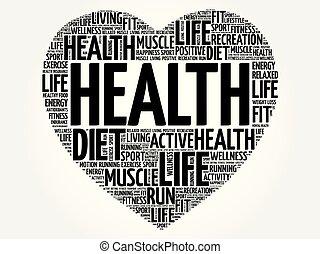 HEALTH heart word cloud