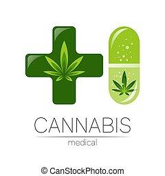 health., herb., pílula, folha, sinal, doutor., planta, ...
